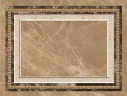 Декор 19*25 Dec. Emperador-Q Crema